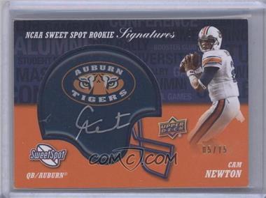 2011 Upper Deck Sweet Spot Rookie Signatures Variations #RS-CN - Cam Newton /75