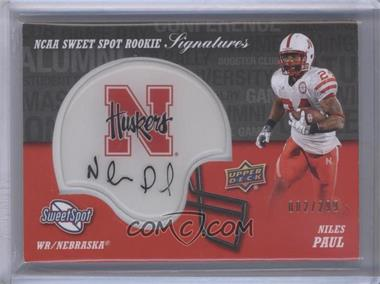 2011 Upper Deck Sweet Spot Rookie Signatures Variations #RS-NP - Niles Paul