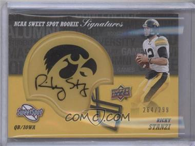 2011 Upper Deck Sweet Spot Rookie Signatures Variations #RS-RS - Ricky Stanzi /299