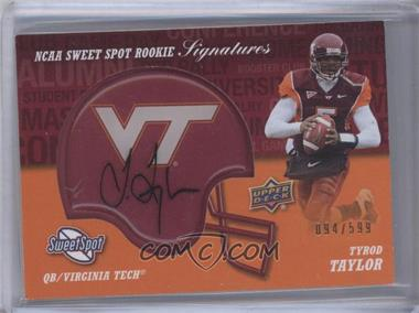 2011 Upper Deck Sweet Spot Rookie Signatures #RS-TA - Tyrod Taylor /599