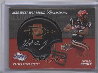 2011 Upper Deck Sweet Spot Rookie Signatures #RS-VB - Vincent Brown /599