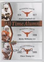 Ricky Williams, Vince Young, Earl Campbell