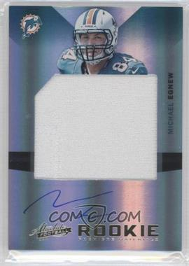 2012 Absolute Rookie Premiere Materials Jumbo Signatures [Autographed] #221 - Michael Egnew /25