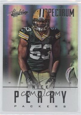 2012 Absolute Spectrum Silver #173 - Nick Perry /50