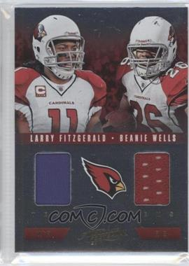 2012 Absolute Team Tandems Materials #25 - Larry Fitzgerald, Beanie Wells /50
