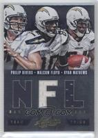 Ryan Mathews, Malcom Floyd, Philip Rivers /75