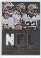 Drew Brees, Pierre Thomas, Marques Colston /75