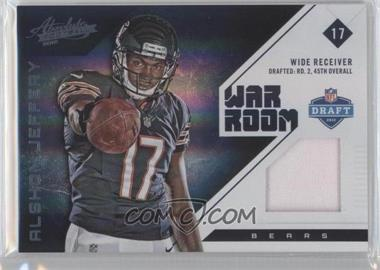 2012 Absolute War Room Materials Prime #3 - Alshon Jeffery /49