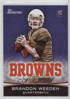 2012 Bowman - [Base] - Purple #161 - Brandon Weeden
