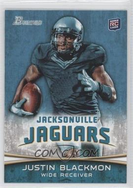 2012 Bowman - [Base] #130.1 - Justin Blackmon (Ball in Right Hand/Green Jersey)