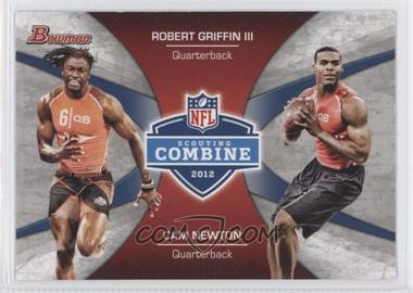 2012 Bowman - Combine Competition #CC-GN - Robert Griffin III, Cam Newton