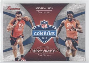 2012 Bowman - Combine Competition #CC-LG - Andrew Luck, Robert Griffin III