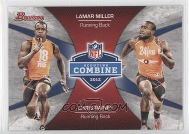 2012 Bowman - Combine Competition #CC-MR - Lamar Miller, Chris Rainey