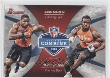 2012 Bowman - Combine Competition #CC-MW - Doug Martin, David Wilson