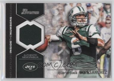 2012 Bowman - Inside the Numbers Relics #ITNR-MS - Mark Sanchez