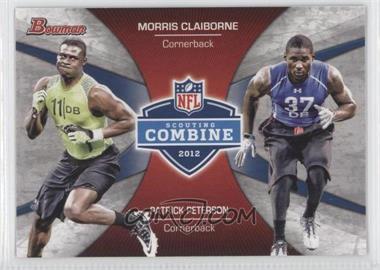 2012 Bowman Combine Competition #CC-CP - Morris Claiborne, Patrick Peterson