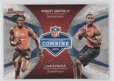 2012 Bowman Combine Competition #CC-GN - Robert Griffin III, Cam Newton