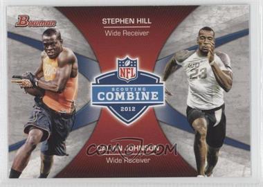2012 Bowman Combine Competition #CC-HJ - Stephen Hill, Calvin Johnson