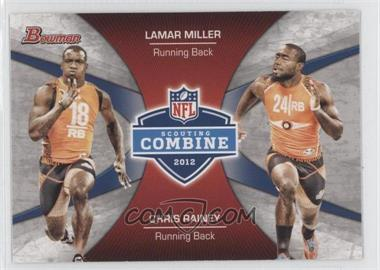 2012 Bowman Combine Competition #CC-MR - Lamar Miller, Chris Rainey