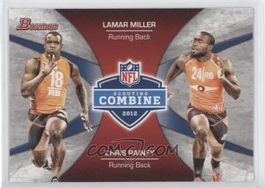 2012 Bowman Combine Competition #CC-MR - Lamar Miller, Chris Rainey