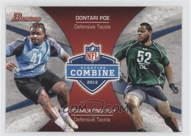 2012 Bowman Combine Competition #CC-PS - Dontari Poe, Ndamukong Suh