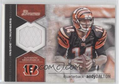 2012 Bowman Inside the Numbers Relics #ITNR-AD - Andy Dalton