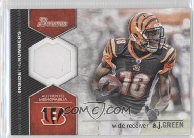 2012 Bowman Inside the Numbers Relics #ITNR-AG - A.J. Green