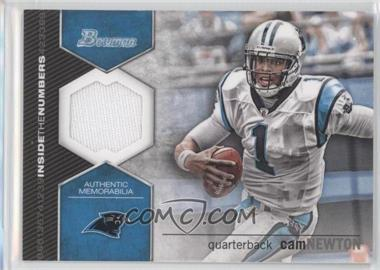 2012 Bowman Inside the Numbers Relics #ITNR-CN - Cam Newton