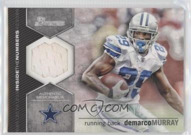 2012 Bowman Inside the Numbers Relics #ITNR-DM - DeMarco Murray