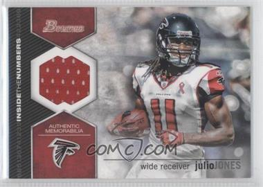 2012 Bowman Inside the Numbers Relics #ITNR-JJ - Julio Jones