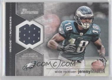2012 Bowman Inside the Numbers Relics #ITNR-JM - Jeremy Maclin