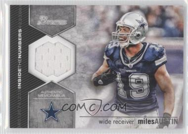 2012 Bowman Inside the Numbers Relics #ITNR-MA - Miles Austin