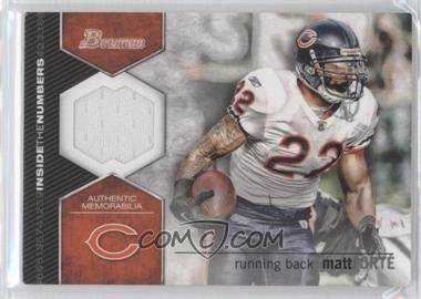 2012 Bowman Inside the Numbers Relics #ITNR-MF - Matt Forte