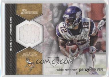 2012 Bowman Inside the Numbers Relics #ITNR-PH - Percy Harvin
