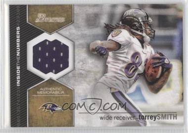 2012 Bowman Inside the Numbers Relics #ITNR-TS - Torrey Smith