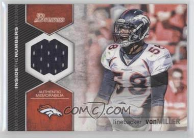 2012 Bowman Inside the Numbers Relics #ITNR-VM - Von Miller
