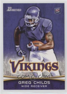 2012 Bowman Purple #136 - Greg Childs