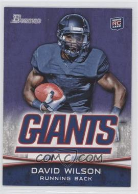 2012 Bowman Purple #153 - David Wilson
