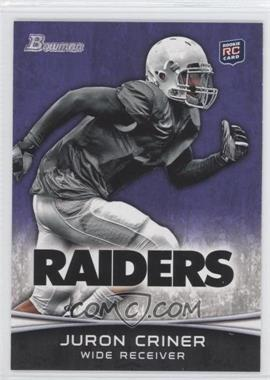 2012 Bowman Purple #183 - Juron Criner