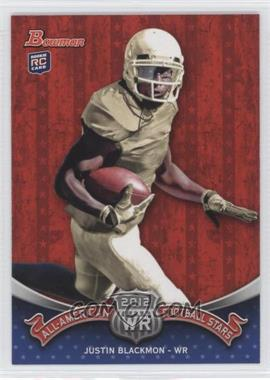 2012 Bowman Signatures All-American Football Stars #BAA-JB - Justin Blackmon