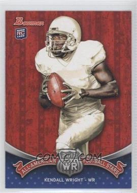 2012 Bowman Signatures All-American Football Stars #BAA-KW - Kendall Wright