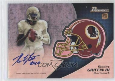 2012 Bowman Signatures Chrome Rookie Autographs #BCRA-RG - ROBERT GRIFFIN III