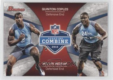 2012 Bowman Signatures Combine Competition #CC-CI - Melvin Ingram, Quinton Coples