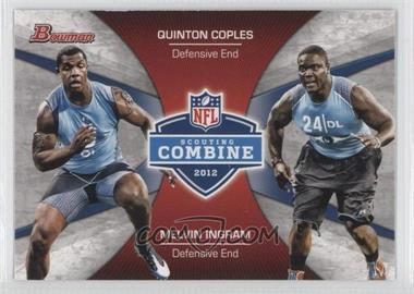 2012 Bowman Signatures Combine Competition #CC-CI - Melvin Ingram, Quinton Coples