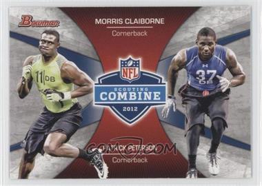 2012 Bowman Signatures Combine Competition #CC-CP - Morris Claiborne, Patrick Peterson