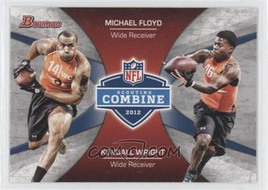 2012 Bowman Signatures Combine Competition #CC-FW - Michael Floyd, Kendall Wright