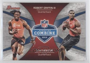 2012 Bowman Signatures Combine Competition #CC-GN - Robert Griffin III, Cam Newton