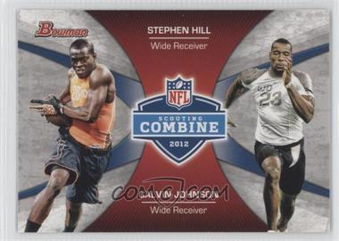 2012 Bowman Signatures Combine Competition #CC-HJ - Stephen Hill, Calvin Johnson