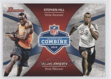 2012 Bowman Signatures Combine Competition #CC-HJ - Stephen Hill, Calvin Johnson