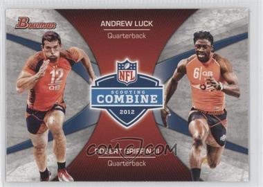 2012 Bowman Signatures Combine Competition #CC-LG - Andrew Luck, Robert Griffin III